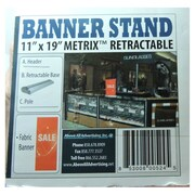 "Metrix Retractable Banner Stand With Sale Sign, 11"" x 19"", Fabric (A1ST-11-0179-01)"