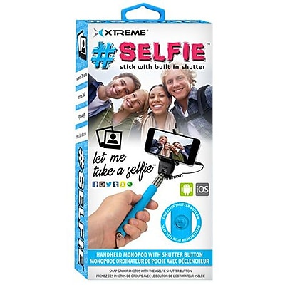 Xtreme Selfie Stick with Built In Shutter for Smartphones, 51913, Blue