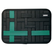 """Cocoon® GRID-IT!® Tablet Accessory Organizer with Pocket, 8"""", Black/Turquoise (CPG41BKT)"""