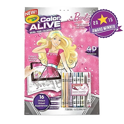 Crayola Color Alive Barbie Action Coloring Pages, 3+ Years (9510480000) 1385115