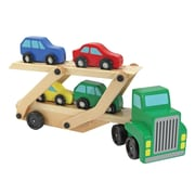 Melissa & Doug® Car Carrier Truck and Cars Wooden Toy Set, 3+ Years (4096)