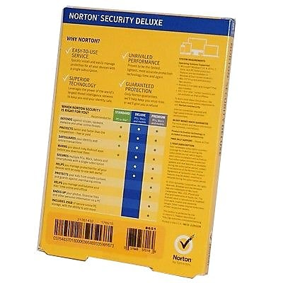 Symantec Norton Deluxe Security Software, Windows/Mac (21351432)