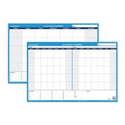 "AT-A-GLANCE® 24""H x 36"" W 30/60-Day Undated Horizontal Erasable Wall Calendar, Blue (PM233B)"