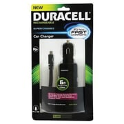 Duracell Micro Car Charger 6' for Smartphone, Black (PRO152)