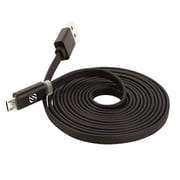 Scosche FlatOut™ LED Charger Cable 6' for Apple iPhone, iPad Mini, iPad Air, Black (MFLED6)