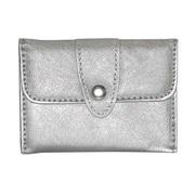 Buxton® Sapphire Silver Leatherette Business Card Case (ST574956)