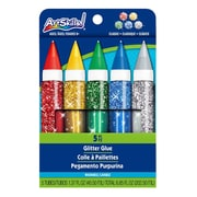 ArtSkills® Classic Jumbo Glitter Glue, Assorted, 5/Pack (PA-1328)