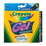 Crayola® Broad Line Gel Washable Marker, Assorted, 8/Pack (58-8163)