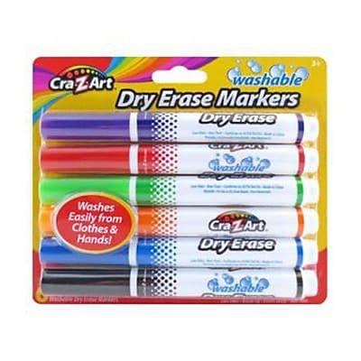 Cra Z Art Kids Washable Broadline Dry Erase Marker Assorted 6 Count 10048 24