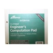 """Ampad® Computation Pad, Quad Ruled, 11"""" x 8 1/2"""", Green (42-142)"""