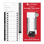 Lathem TruAlign™ Single Sided Weekly Time Card, 100/Pack (E16)