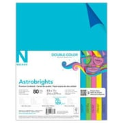 "Neenah Paper Astrobrights® Double Color Cardstock, 8 1/2"" x 11"", Assorted, 80 Sheets/Pack (98883)"