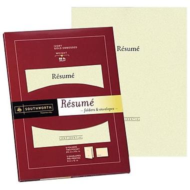 southworth resume folder and envelope 9 x 12 ivory 5