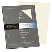 "Southworth® Granite Specialty Cover Stock, 8 1/2"" x 11"", Ivory, 100/Pack (Z930CK)"