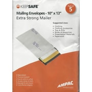 "Ampac® Keep Safe® Peel and Seal Mailing Envelope, 10"" x 13"", 5/Pack (VMP1013)"