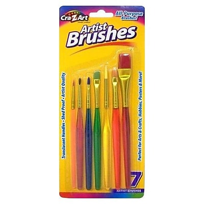 Cra Z Art All Purpose Artist Brush Set Shed Proof 7 Pack 10700 72