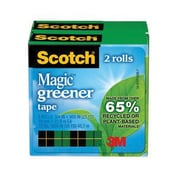 "Scotch® Magic Greener Tape Refill Roll, 3/4"" x 25 yds., 4/Pack (812S6)"
