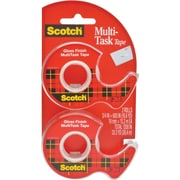 "Scotch® Transparent Multi-Task Tape with Dispenser, 3/4"" x 18.1 yds., 2/Pack (25DM-2)"