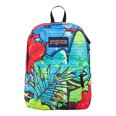 Jansport High Stakes Multi Graffiti Fabric Backpack (TRS70E6)