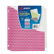 "Avery® Big Tab™ 8-Tab Pocket Insertable Divider, Plastic, Assorted, 9 1/4"" x 11 1/8"" (7709)"