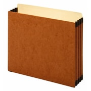 "Staples Heavy Duty File Cabinet Pocket, 3 1/2"" Expansion, Letter Size, Brown (FC1524E4)"
