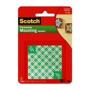 "Scotch® Permanent Mounting Square, 1/2"" x 1/2"", White (111-SML)"
