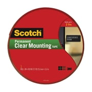"Scotch® Permanent Mounting Tape, 1"" x 450"", Clear (4010-LONG)"
