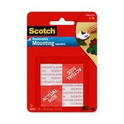 Scotch® Small Removable Mounting Square, 1.3 cm x 1.3 cm, White (108-SML)