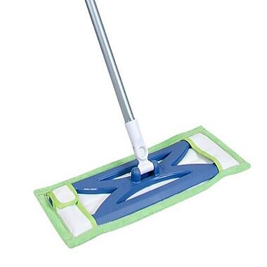 Quickie® 076M Microfiber Hardwood Floor Mop, Blue/Green ...