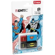 Emtec Super Heroes 2D C600 8GB USB Flash Drive, Batman/Superman (ECMMD8GC600BSP2)