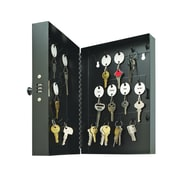 MMF™ Steelmaster Hook-Style Combination 28-Key Cabinet, Black (201202804)