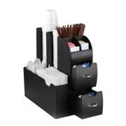 Mind Reader CAD01 Condiment Organizer, 10 Compartment, Black