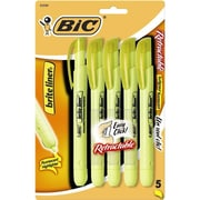 BIC® Brite Liner® Retractable Highlighter, Chisel Tip, Yellow (BLRP51)