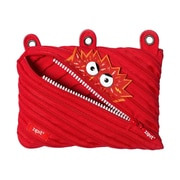 Zipit Talking Monstar 3 Ring Pencil Case, Red (ZTM3R-AR-STAPLE)