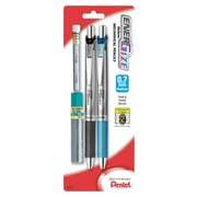 Pentel® EnerGize™ Automatic Pencil with Lead and Erasers, 0.7 mm, 2/Pack (PL77LEBP2)