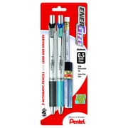 Pentel® EnerGize™ Automatic Pencil with Lead and Erasers, 0.5 mm, 2/Pack (PL75LEBP2)