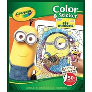 "Crayola® Minions Color and Sticker Book, Multicolor, 8 1/2"" x 10"" (0458420001)"