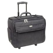 Solo® Classic Black Polyester Wheeled Catalog Case (B1514)