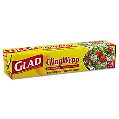 Glad 12 x 300 Clear Plastic Cling Wrap CLO 00022