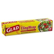 "Glad® 12"" x 300' Clear Plastic Cling Wrap (CLO 00022)"