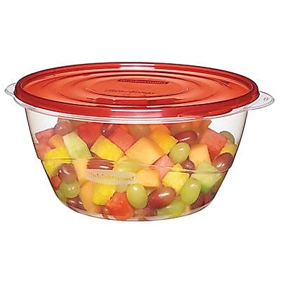 Rubbermaid TakeAlongs 15.7 Cups Clear/Red Plastic Serving Bowl (1787831) 1385625