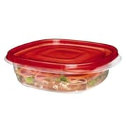 Rubbermaid® TakeAlongs® 2.9 Cups Clear/Red Plastic Sandwich Square Bowl, 4/Pack (FG7F58RETCHIL)