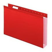 "Esselte® Pendaflex® SureHook® 5 x 1/5 Cut Tab Extra Capacity Reinforced Hanging Folder, 8.5"" x 11"", Red, 20/Box (6152X2)"
