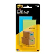 "Post-it® Super Sticky 2"" x 4"" Removable Adhesive Label Pad, Electric Blue/Limeade, 2/Pack (2900-BLB)"