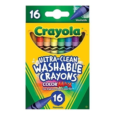 Crayola Ultra-Clean Washable Crayon, 16/Pack (5269160012) 170890
