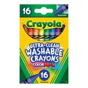 Crayola® Ultra-Clean Washable Crayon, 16/Pack (5269160012)