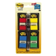 """Post-it® 1"""" x 1.71"""" Standard Flags Value Pack with Pen, Assorted, 4/Pack (680-RYBGVA)"""