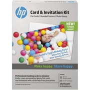 "HP® Card and Invitation Kit, Rounded Corners, 5"" x 7"" (K6B84A)"