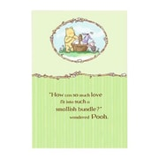 "Hallmark Baby Greeting Card, ""How Can so Much Love Fit Into Such a Smallish Bundle?"" Wondered Pooh (0295QBA1102)"