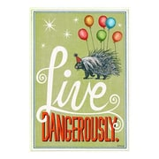 Hallmark Birthday Greeting Card, Live dangerously (0349ZZB1297)